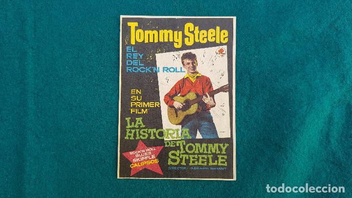 PROGRAMA DE MANO CINE LA HISTORIA DE TOMMY STEELE - CON CINE AL DORSO (Cine - Folletos de Mano - Musicales)