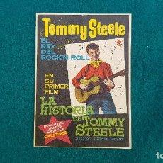 Cine: PROGRAMA DE MANO CINE LA HISTORIA DE TOMMY STEELE - CON CINE AL DORSO. Lote 218673423
