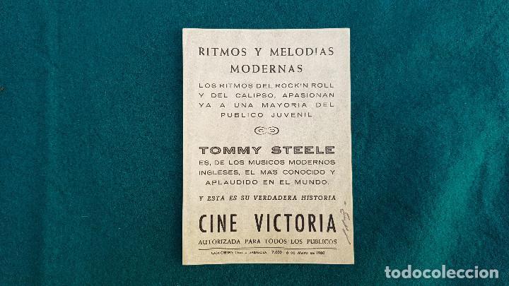 Cine: PROGRAMA DE MANO CINE LA HISTORIA DE TOMMY STEELE - CON CINE AL DORSO - Foto 2 - 218673423