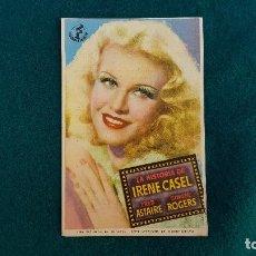 Cine: PROGRAMA DE MANO CINE LA HISTORIA DE IRENE CASEL (1943) CON CINE AL DORSO. Lote 218673962