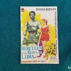 Flyers Publicitaires de films Anciens: PROGRAMA DE MANO CINE HERCULES Y LA REINA DE LIDIA (1961) CON CINE AL DORSO. Lote 218674923