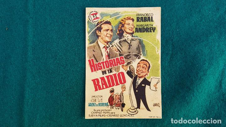 PROGRAMA DE MANO CINE HISTORIAS DE LA RADIO - CON CINE AL DORSO (Cine - Folletos de Mano - Musicales)