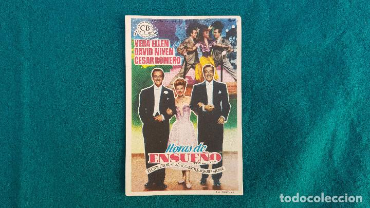PROGRAMA DE MANO CINE HORAS DE ENSUEÑO - CON CINE AL DORSO (Cine - Folletos de Mano - Musicales)