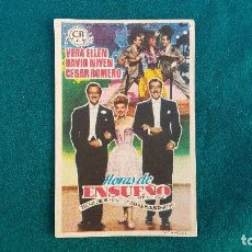 Cine: PROGRAMA DE MANO CINE HORAS DE ENSUEÑO - CON CINE AL DORSO. Lote 218682563