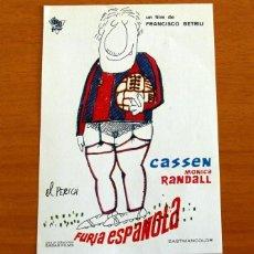 Folhetos de mão de filmes antigos de cinema: FURIA ESPAÑOLA - MÓNICA RANDALL - FOLLETO DE CINE -. Lote 218683402