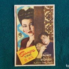 Cine: PROGRAMA DE MANO CINE SANGRE SOBRE EL SOL (1946) CON CINE AL DORSO. Lote 218684253