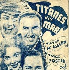 Cine: TITANES DEL MAR. PROGRAMA DOBLE. REVERSO TEATRO CALDERON DE ALCOY. Lote 218694102
