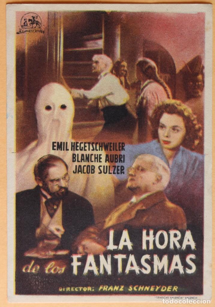 LA HORA DE LOS FANTASMAS, DE FRANZ SCHNEYDER.1948 (Cine - Folletos de Mano - Terror)