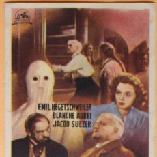 Cine: LA HORA DE LOS FANTASMAS, DE FRANZ SCHNEYDER.1948. Lote 218700490