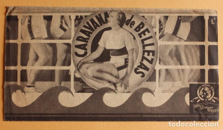 CARAVANA DE BELLEZAS. JIMMY DURANTE.- DOBLE GRANDE. REVERSO TEATRO BRETON DE ALMARAZ 1942 (Cine - Folletos de Mano - Musicales)