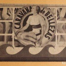 Cine: CARAVANA DE BELLEZAS. JIMMY DURANTE.- DOBLE GRANDE. REVERSO TEATRO BRETON DE ALMARAZ 1942. Lote 218705227