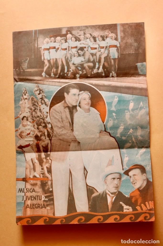 Cine: CARAVANA DE BELLEZAS. JIMMY DURANTE.- DOBLE GRANDE. REVERSO TEATRO BRETON DE ALMARAZ 1942 - Foto 3 - 218705227