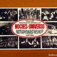 Cine: NOCHES DEL UNIVERSO - AÑO 1964 - DUO DINAMICO, BALLET MEL-LO-ELSA Y WALDO - FOLLETO DE CINE -. Lote 218706155