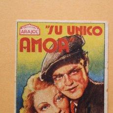 Foglietti di film di film antichi di cinema: SU ÚNICO AMOR - ANNABELLA, GUSTAV FROELICH - PELICULA DE 1933.. Lote 218706373