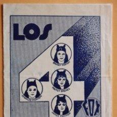 Flyers Publicitaires de films Anciens: LOS CUATRO DIABLOS 1929 4 DEVILS F.W. MURNAU JANET GAYNOR PROGRAMA CINE MUDO. Lote 218708308