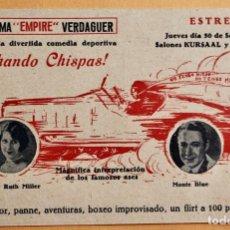 Flyers Publicitaires de films Anciens: ECHANDO CHISPAS- PATSY RUTH MILLER Y MONTE BLUE - ESTRENO 30 SEP SALONES KURSAAL. Lote 218709590