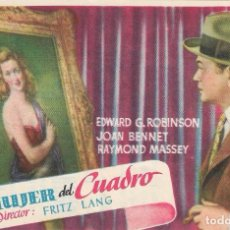 Cine: PN - PROGRAMA DE CINE - LA MUJER DEL CUADRO - EDWARD G. ROBINSON, JOAN BENNET - PRINCIPAL CINEMA. Lote 218712020