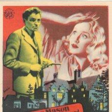 Cine: PN - PROGRAMA DE CINE - LA NOCHE TIENE OJOS - JAMES MASON - CINE ECHEGARAY (MÁLAGA) - 1942.. Lote 218714721