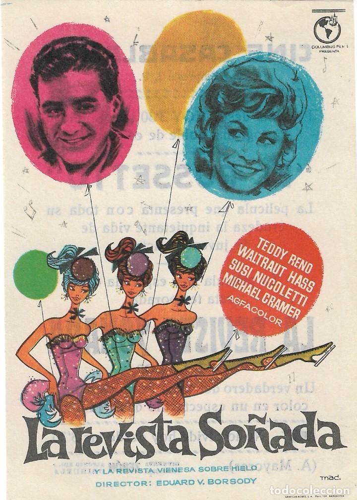 PN - PROGRAMA DE CINE - LA REVISTA SOÑADA - TEDDY RENO - CINE CASABLANCA (ORIHUELA) - 1959. (Cine - Folletos de Mano - Musicales)