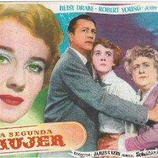 Cine: PN - PROGRAMA DE CINE - LA LSEGUNDA MUJER - BETSY DRAKE, ROBERT YOUNG - CINE ECHEGARAY (MÁLAGA) 1950. Lote 218733343