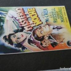 Cine: PROGRAMA DE MANO ORIG - MISTERIO EN LA NOCHE - CON CINE IMPRESO AL DORSO. Lote 218742558