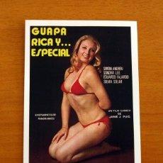 Flyers Publicitaires de films Anciens: GUAPA RICA Y...ESPECIAL - AÑO 1975 - SIMÓN ANDREU, SONDRA LEE - FOLLETO DE CINE -. Lote 218762271