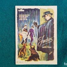 Cine: PROGRAMA DE MANO CINE JUDEX (1964) CON CINE AL DORSO. Lote 218776051