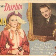 Cine: PN - PROGRAMA DE CINE - LA DAMA DEL TREN - DIANA DURBIN - CINE ECHEGARAY (MÁLAGA) - 1946.. Lote 218778756