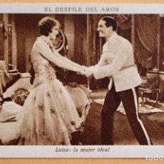 Cine: EL DESFILE DEL AMOR -1929 - LUISA LA MUJER IDEAL - CHOCOLATE JUNCOSA. Lote 218796530