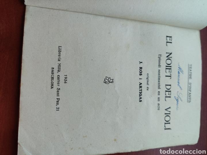 Cine: Teatre D infants el noiet del violi episodi sentimental en un acte original de j. Ros Artigas 1936 - Foto 2 - 218797710