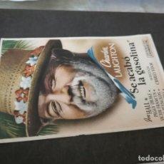 Cine: PROGRAMA DE MANO ORIG - SE ACABO LA GASOLINA - SIN CINE IMPRESO AL DORSO. Lote 218817765