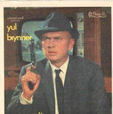 Cine: PN - PROGRAMA DE CINE - LA HUELLA CONDUCE A LONDRES - YUL BRYNNER - CINE CAPITOL Y DUQUE (MÁLAGA). Lote 218868300