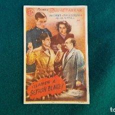 Flyers Publicitaires de films Anciens: PROGRAMA DE MANO CINE ¡LLAMEN A SEXTON BLAKE! - CON CINE AL DORSO. Lote 218957682