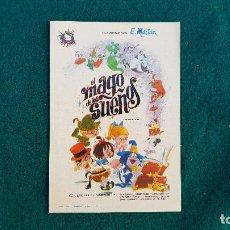 Cine: PROGRAMA DE MANO CINE EL MAGO DE LOS SUEÑOS (1967) CON CINE AL DORSO. Lote 218959256