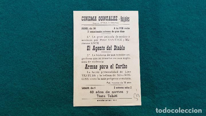 Cine: PROGRAMA DE MANO CINE ARMAS PARA EL CARIBE (1966) CON CINE AL DORSO - Foto 2 - 218965503