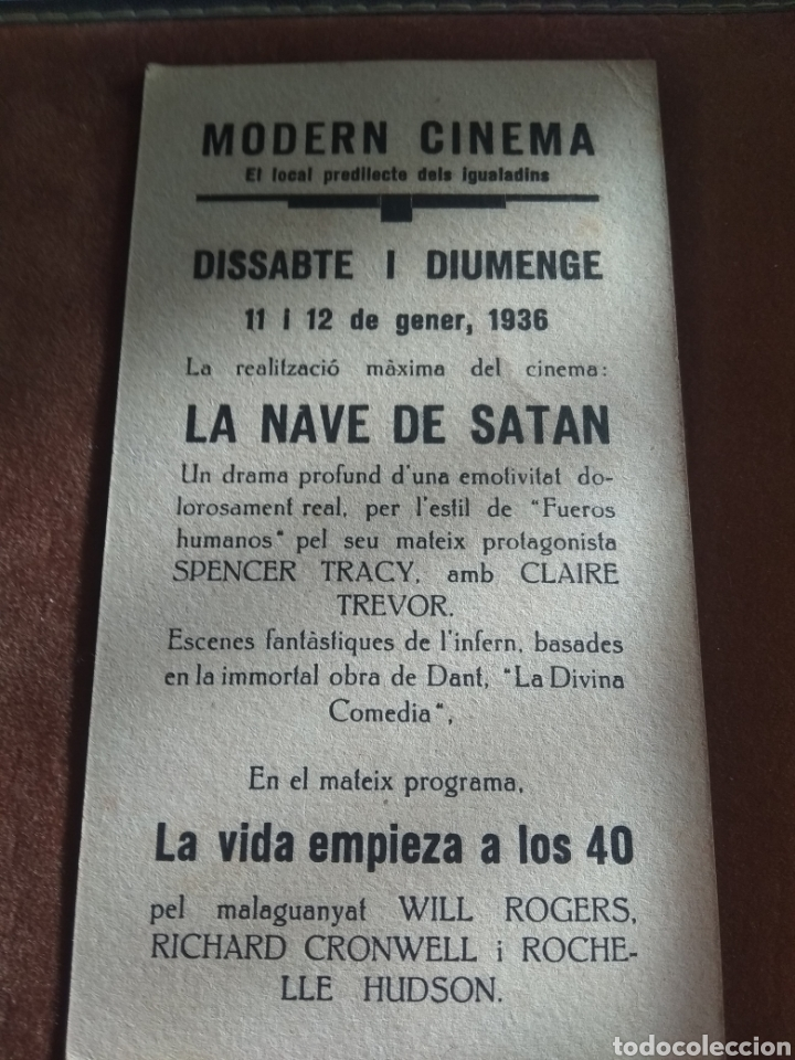 Cine: Lote 3 Programas Cine Antiguos 1936 - Foto 5 - 219097048