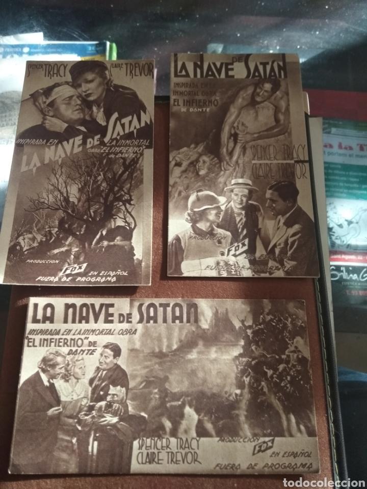 LOTE 3 PROGRAMAS CINE ANTIGUOS 1936 (Cine - Folletos de Mano - Acción)