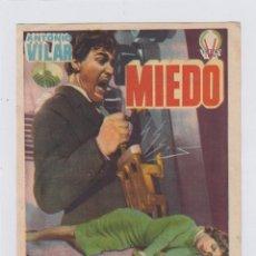 Cine: MIEDO. PROGRAMA DE CINE. SENCILLO CON PUBLICIDAD. CINE MUNICIPAL. CÁDIZ.. Lote 219220687