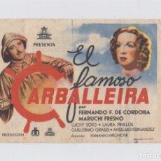 Cine: EL FAMOSO CARBALLEIRA. PROGRAMA DE CINE. SENCILLO (GRANDE) CON PUBLICIDAD. CINE GADES. CÁDIZ.. Lote 219224388