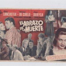 Cine: EL ABRAZO DE LA MUERTE. PROGRAMA DE CINE. SENCILLO (GRANDE) CON PUBLICIDAD. GRAN TEATRO FALLA.CÁDIZ.. Lote 219224597