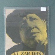 Cine: EL ZAR LOCO - PROGRAMA DE CINE DOBLE.. Lote 219228778