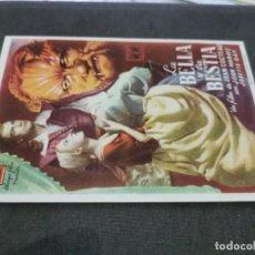 Cine: PROGRAMA DE MANO ORIG - LA BELLA Y LA BESTIA - CON CINE IMPRESO AL DORSO. Lote 219244177