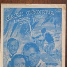 Cine: LA JUNGLA EN ARMAS - GARY COOPER - 1939. Lote 219267671