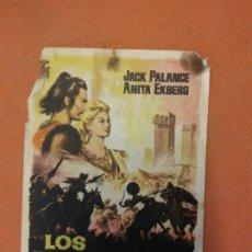 Cine: LOS MONGOLES. FRANCO SILVA. JACK PALANCE.. Lote 219271510