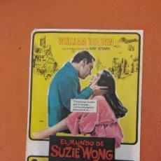 Cine: EL MUNDO DE SUZIE WONG. WILLIAM HOLDEN. NANCY KWAN.. Lote 219272108