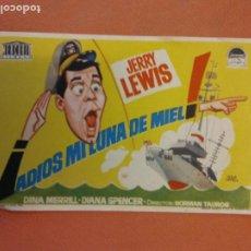 Cine: ADIÓS MI LUNA DE MIEL. JERRY LEWIS. DINA MERRILL.. Lote 219272993