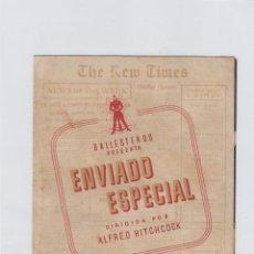 Cine: ENVIADO ESPECIAL. PROGRAMA DE CINE. DOBLE CON PUBLICIDAD. CINE GADES. CÁDIZ.. Lote 219284223