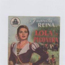Cine: LOLA LA PICONERA. PROGRAMA DE CINE. DOBLE CON PUBLICIDAD. GRAN TEATRO FALLA. CÁDIZ.. Lote 219286697