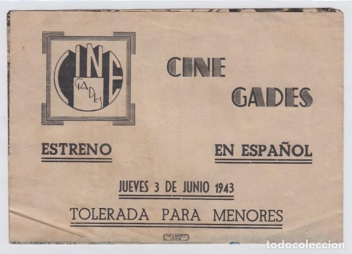 Cine: Niña revoltosa. Programa de cine. Doble con publicidad. Cine Gades. Cádiz. - Foto 3 - 219286976