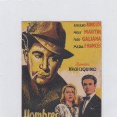 Cine: HOMBRES SIN HONOR. PROGRAMA DE CINE. DOBLE CON PUBLICIDAD. CINE MUNICIPAL. CÁDIZ.. Lote 219289598
